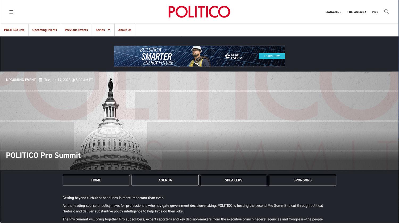 Politico Pro Summit 2018 -