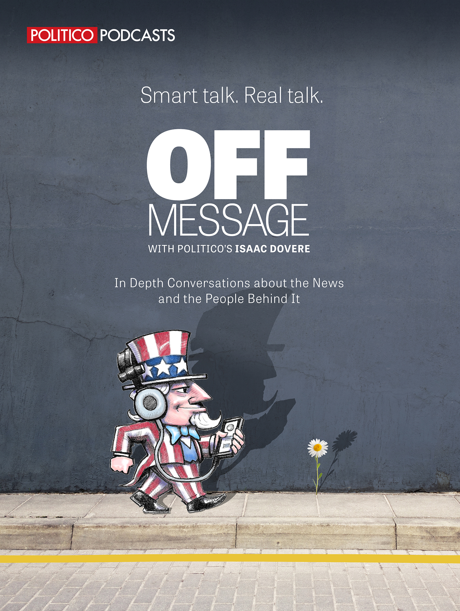 Mock-up for one of Politico's successful podcasts