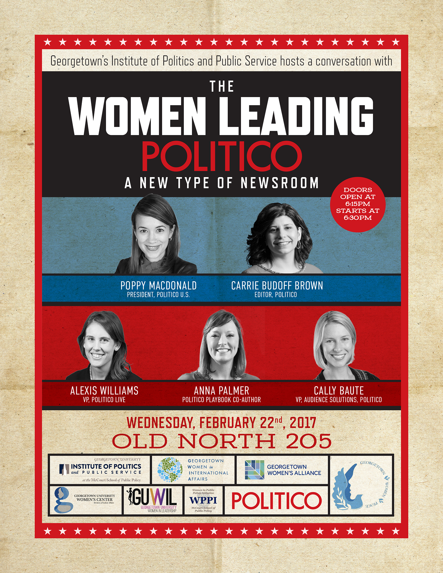 Advertisement for an event at Georgetown's Institute of Politics and Public Service
