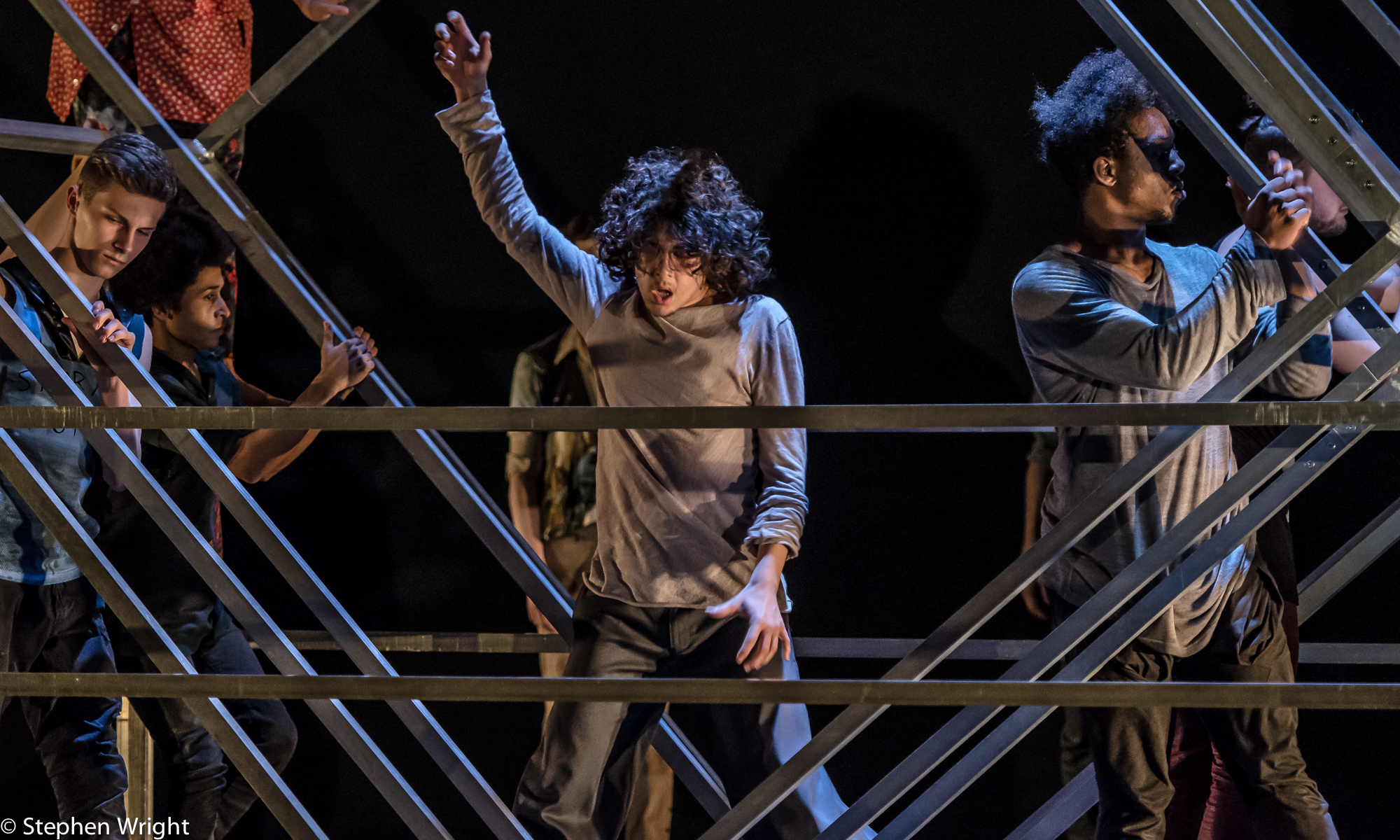 Tommy Hodgkins  in, Frame[d] a  Sidi Larbi Cherkaoui  piece for   National Youth Dance Company