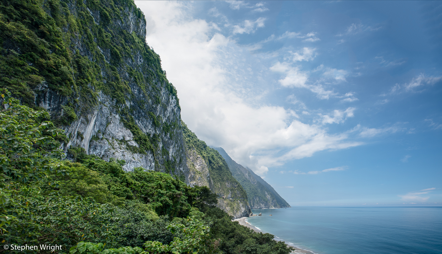 Qingshui Cliffs on Taiwan's east cost.