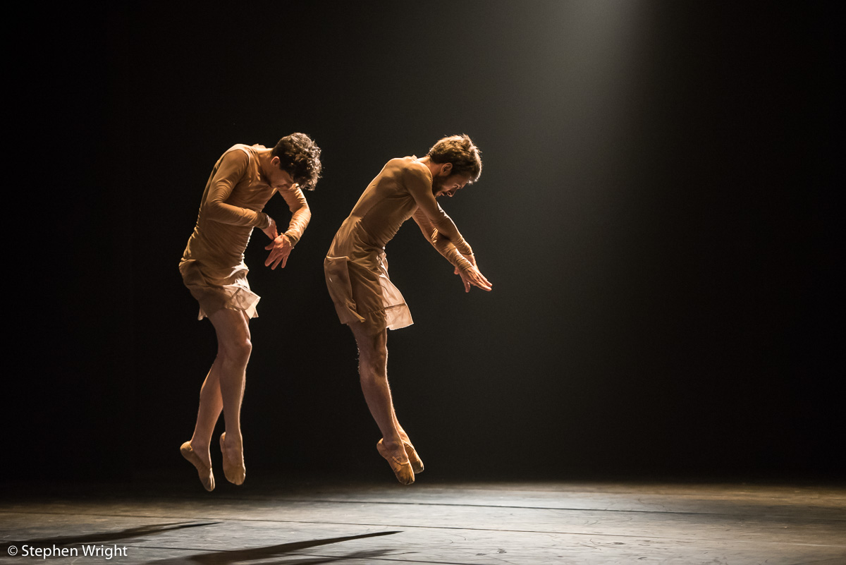Quentin Dehaye  &  Vincent Colomes  performing in  ICK 's work  TWO  choreographed by  Emio Greco  &  Pieter C. Scholten .