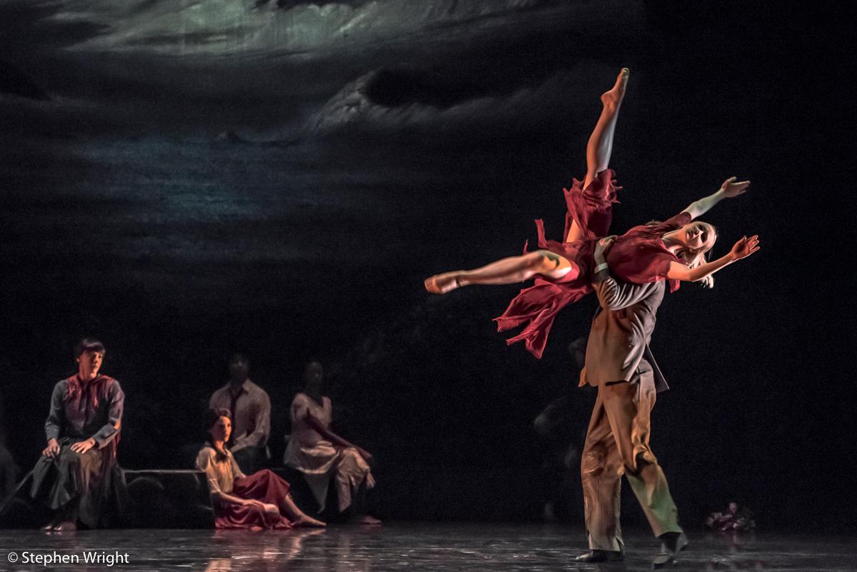 Simone Damberg Würtz  and  Adam Park  in Christopher Bruce 's  Ghost Dances , performed by  Rambert .