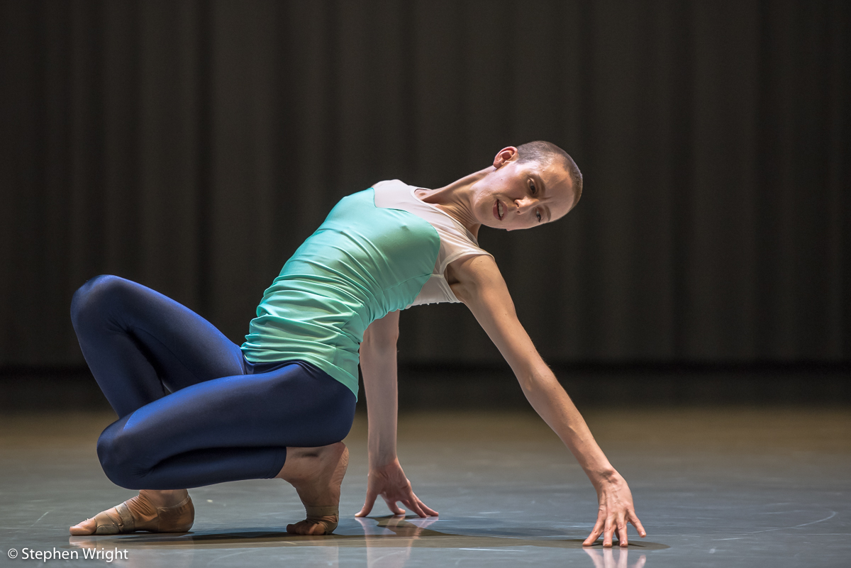 Julie Cunningham  performing in her own work,  Returning .Performed as part of  In the Making presented by  Rambert.