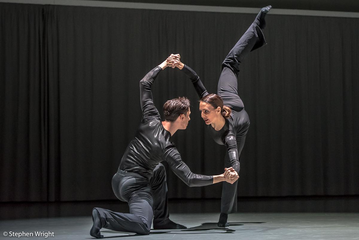 Juan Gil and  Antonia Hewitt  in  Daniel Davidson 's,  Doublespeak .Performed as part of  In the Making presented by  Rambert.
