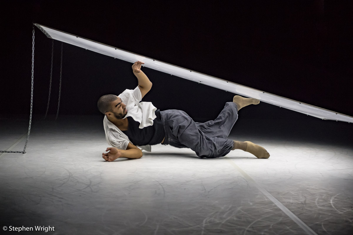 Louis Parker-Evans of  2Faced Dance Company  performing  From Above , choreographed by  Tamsin Fitzgerald  and performed at  The Place, London .