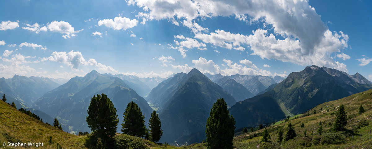 Summer holidays in the Zillertal Valley, Austria.