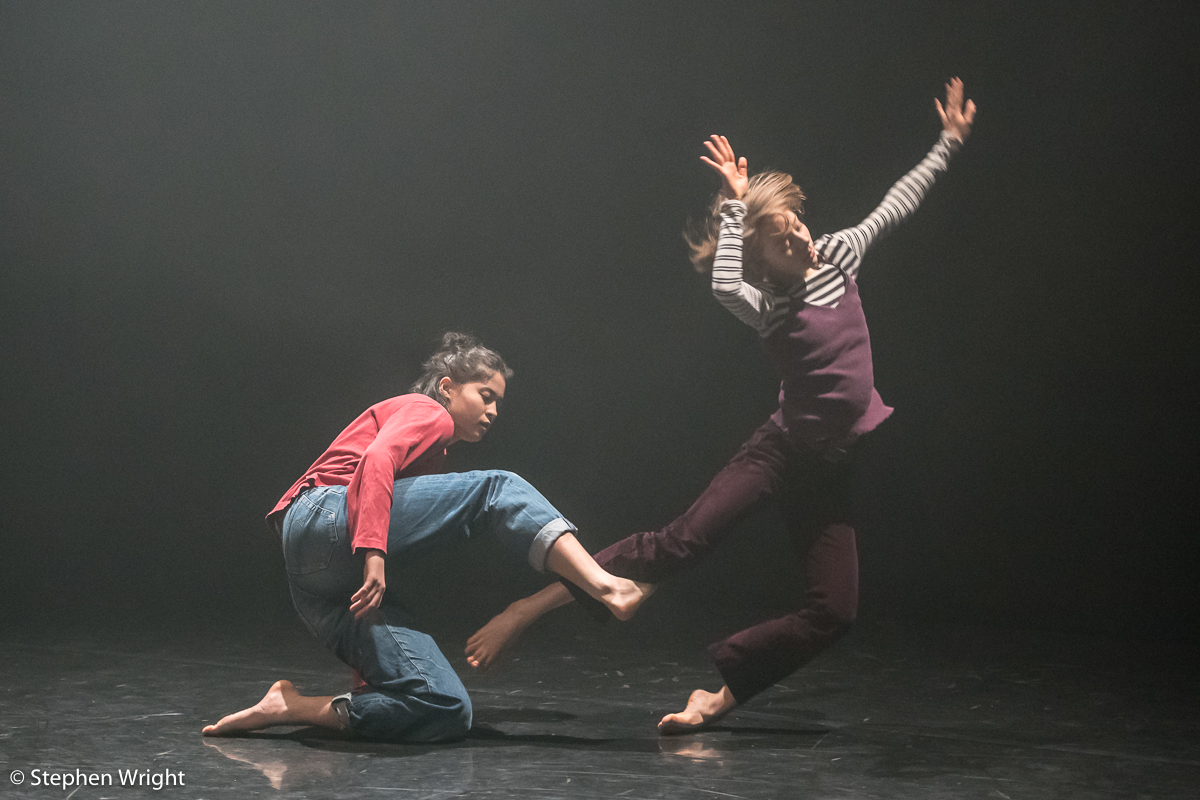 Bun Kobayashi  and  Hannah Mason  performing  James Gallego Olivio 's work at the  Young Associates  sharing at  Sadler's Wells .