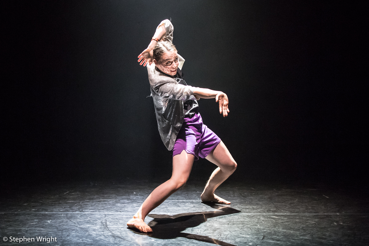 Ruby Portus  performing her own work at the  Young Associates  sharing at  Sadler's Wells .