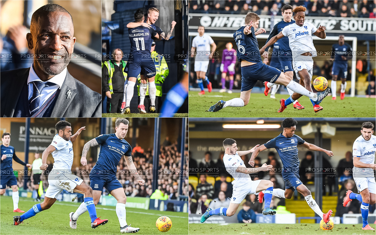 Images from  Southend United vs Portsmouth  on assignment for  Pro Sports Images .