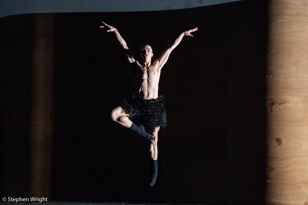 Skyler Maxey-Wert  of  SemperOper Ballett  performs  Enemy in the Figure  choreographed by  William Forsythe .