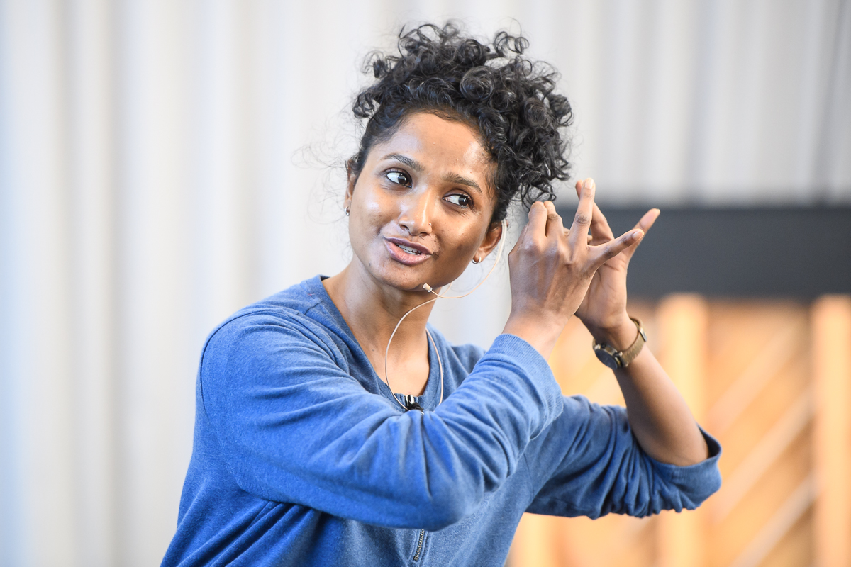 Hema Palani  works with  Hetain Patel  in the studio researching a new work produced by  Fuel Theatre .