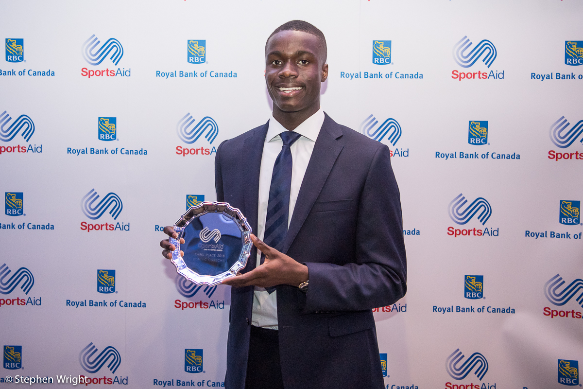 Dominic Ogbechie  is named runner-up in the  SportsAid One to Watch  award 2018.