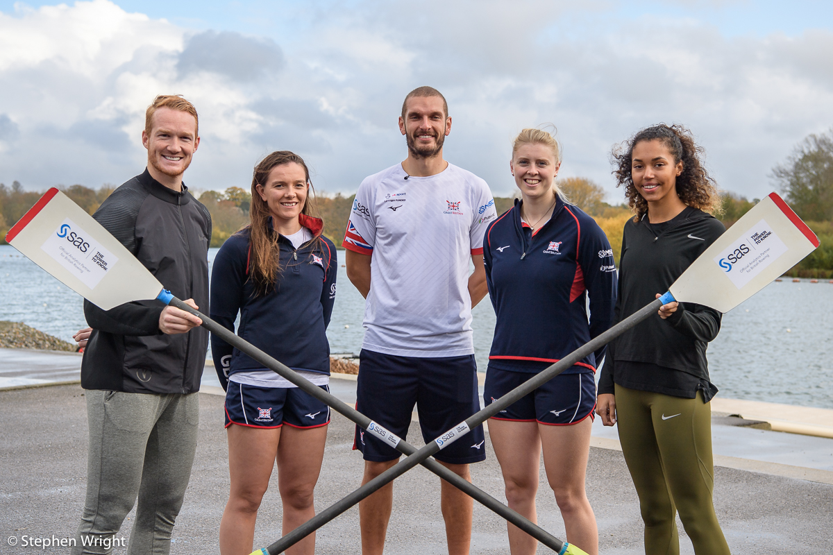 Morgan Lake  and  Greg Rutherford  train with  British Rowing  and  SAS Analytics .