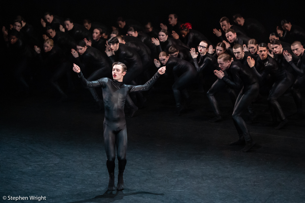 Nation Youth Dance Company  ( NYDC ) perform  Used to be Blonde  at  Sadler's Wells  choreographed by  Sharon Eyal .