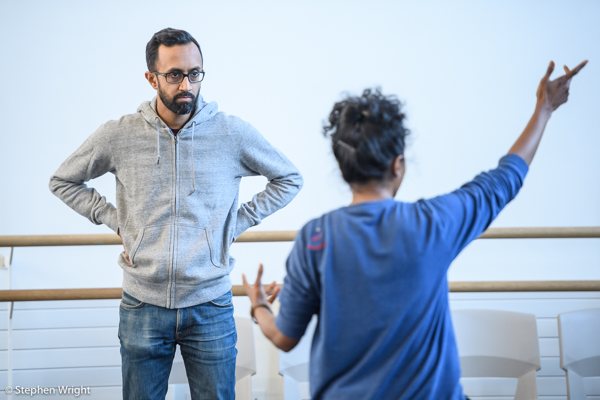 Hemabharathy Palani  works with  Hetain Patel  in the  Rambert  studios.