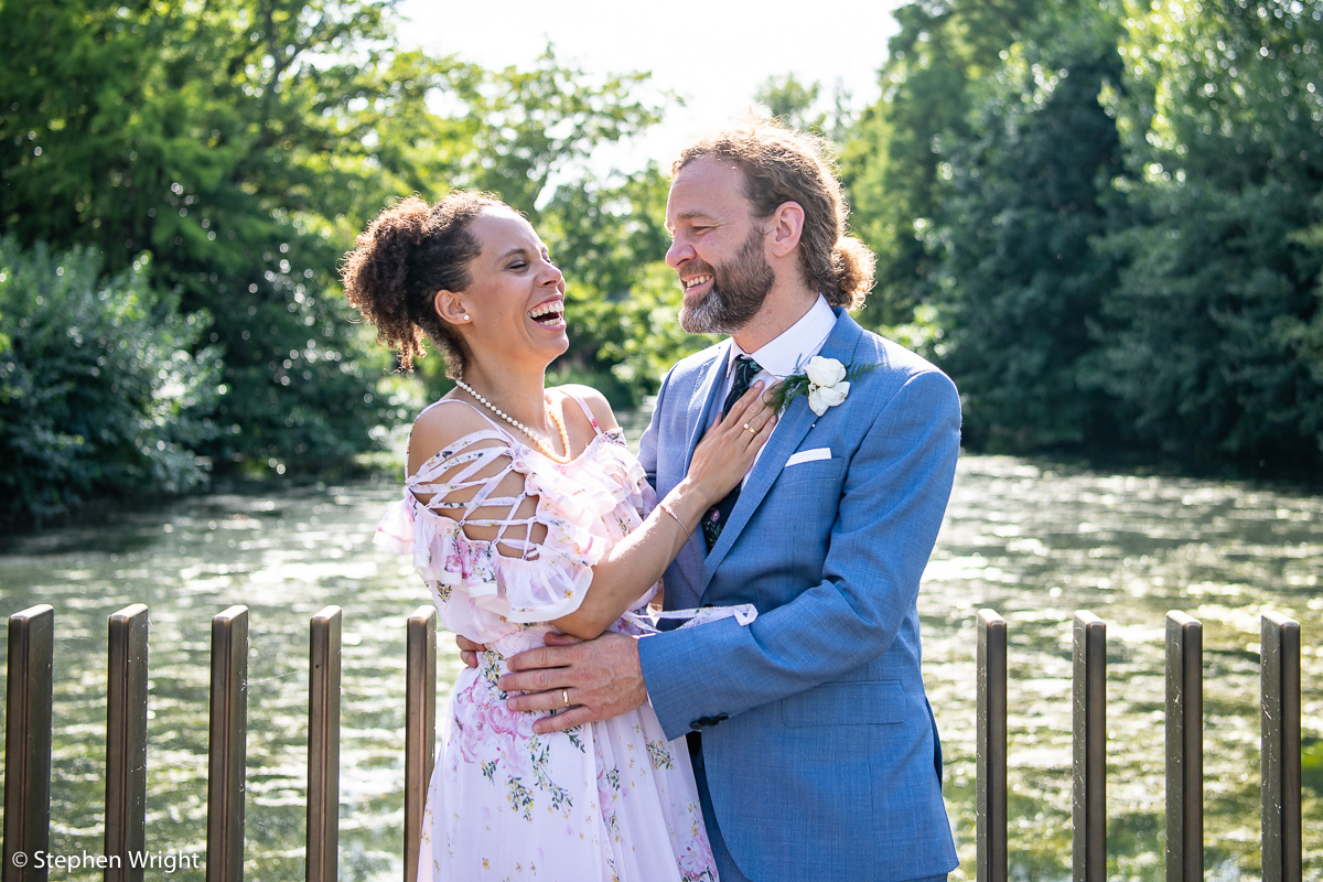 Patricia Okenwa  and  Geoff Holroyde  get married in  Key Gardens .