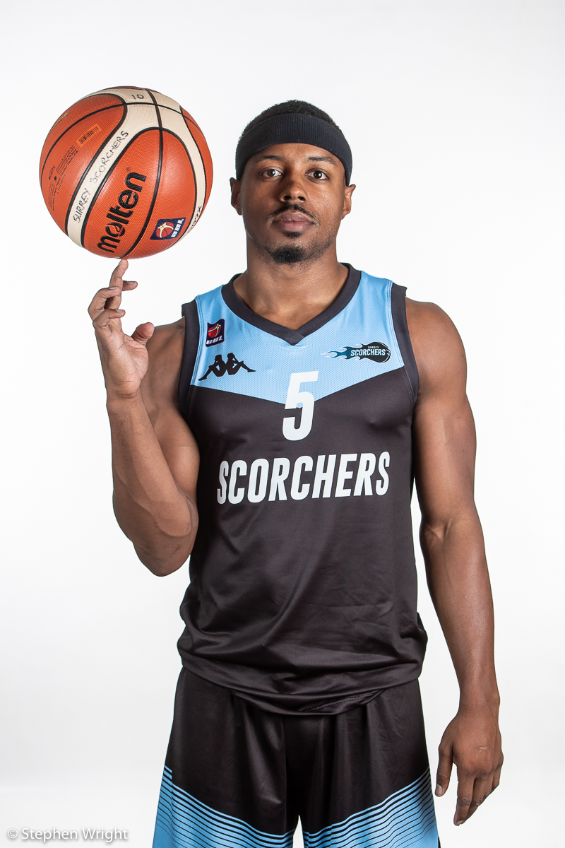 Quincy Taylor   of the  British Basketball League  side  Surrey Scorchers .