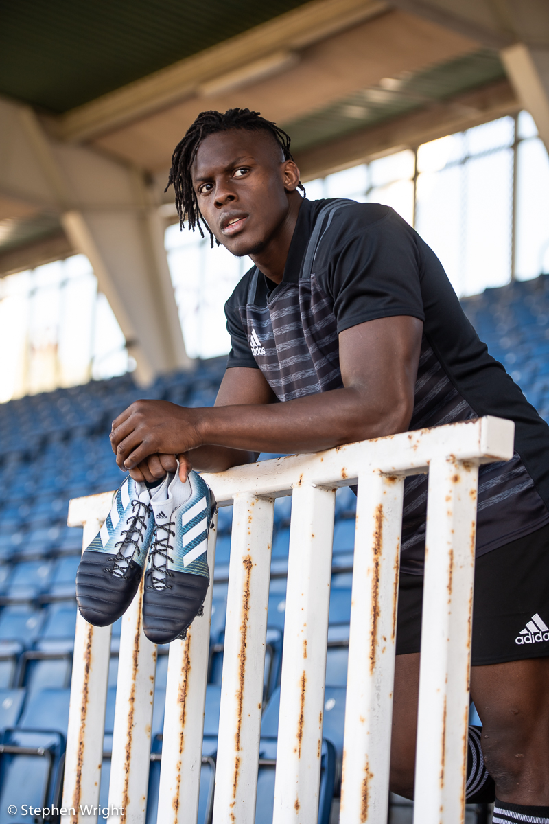 England Rugby player  Maro Itoje  launches the new design  Adidas  rugby boots ahead of the Autumn Internationals.