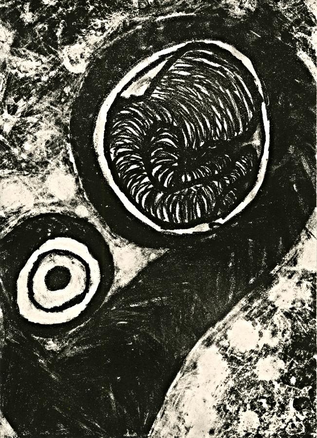 "Fetus I | Lithograph | 9"" x 12"" | 2014"