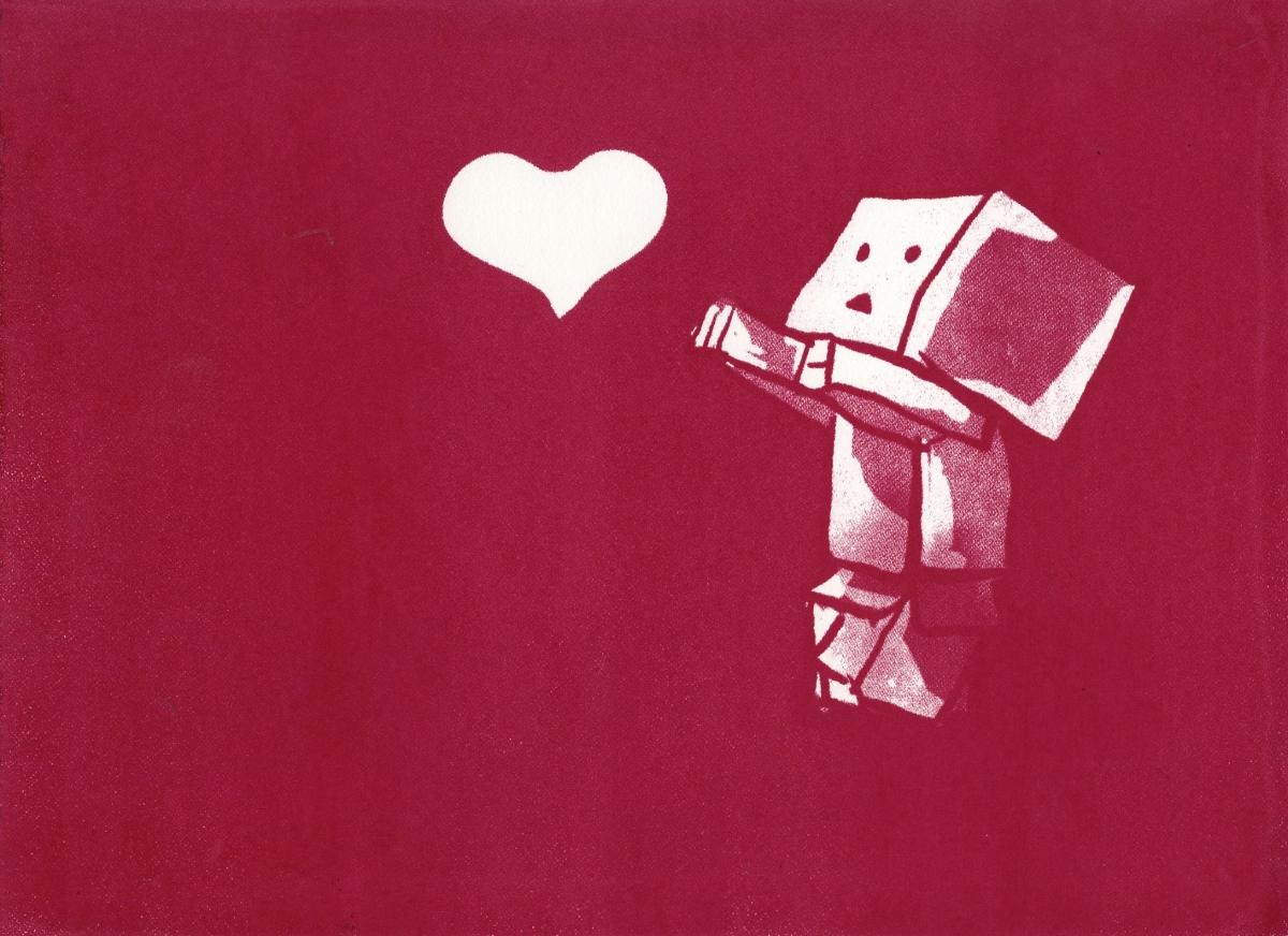 """Teaching a Robot to Love   Silkscreen   11"""" x 15""""   2014"""