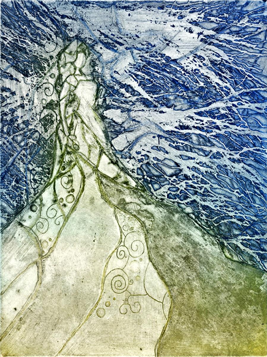 "Eostre | Line Etch and Aquatint | 9"" x 12"" | 2013"