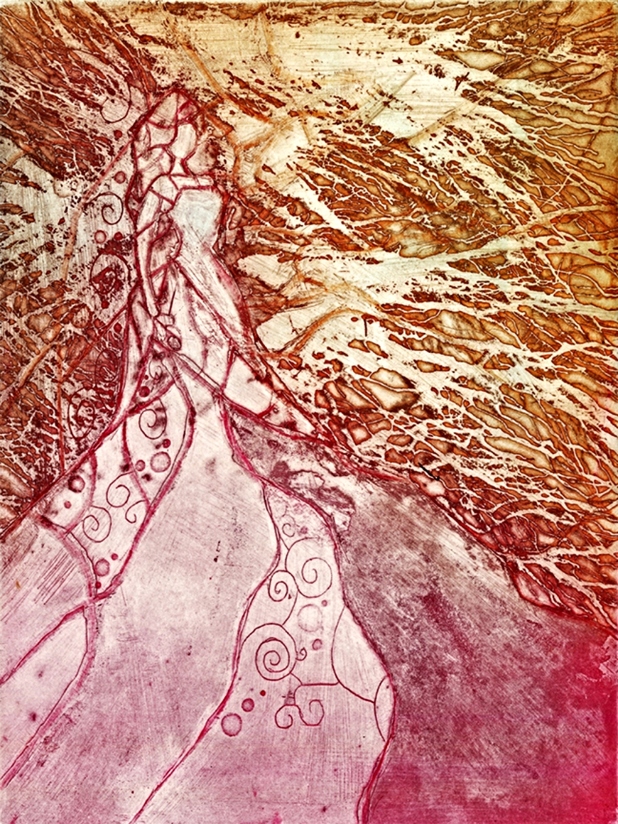 "Samhain | Line Etch and Aquatint | 9"" x 12"" | 2013"