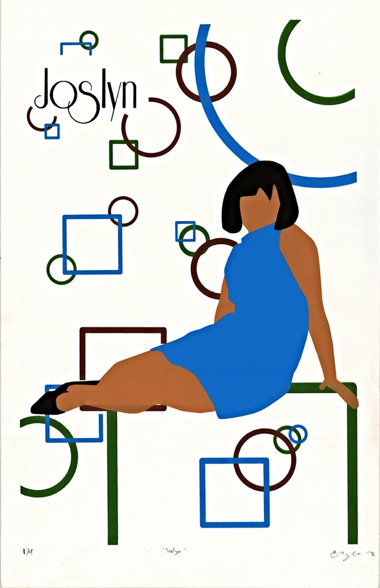 "Joslyn   Silkscreen   11"" x 17""   2012"