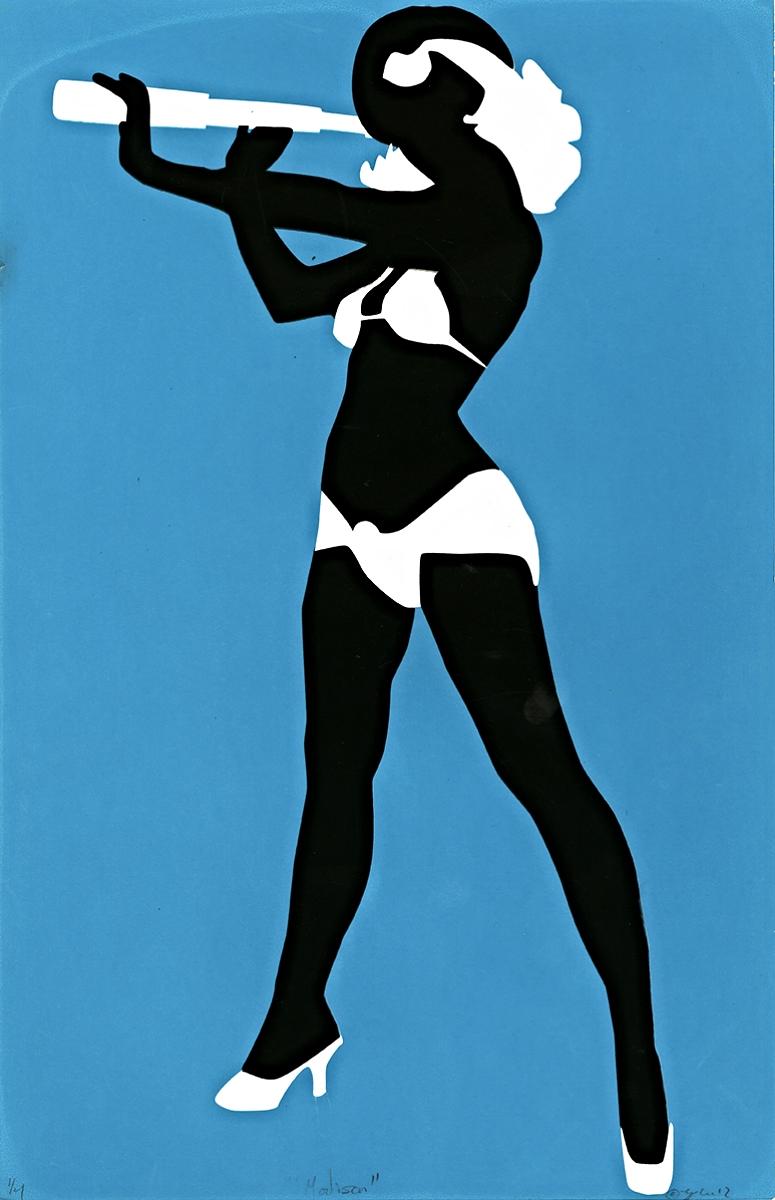 "Madison Silhouette   Silkscreen   8.5"" x 11""   2012"