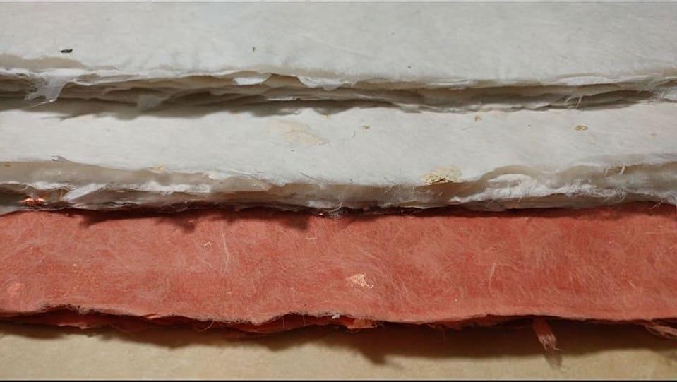 Variety of handmade Gampi paper.