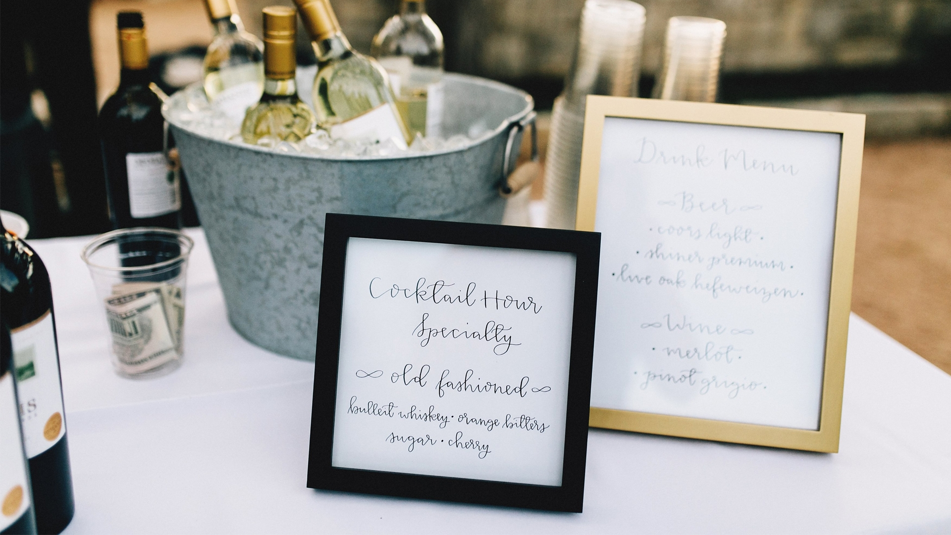 Custom Wedding Bar Signs