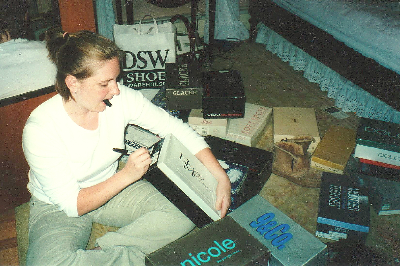 Back in 2000, my mom caught me organizing my shoes. To this day, I still keep all my boxes.