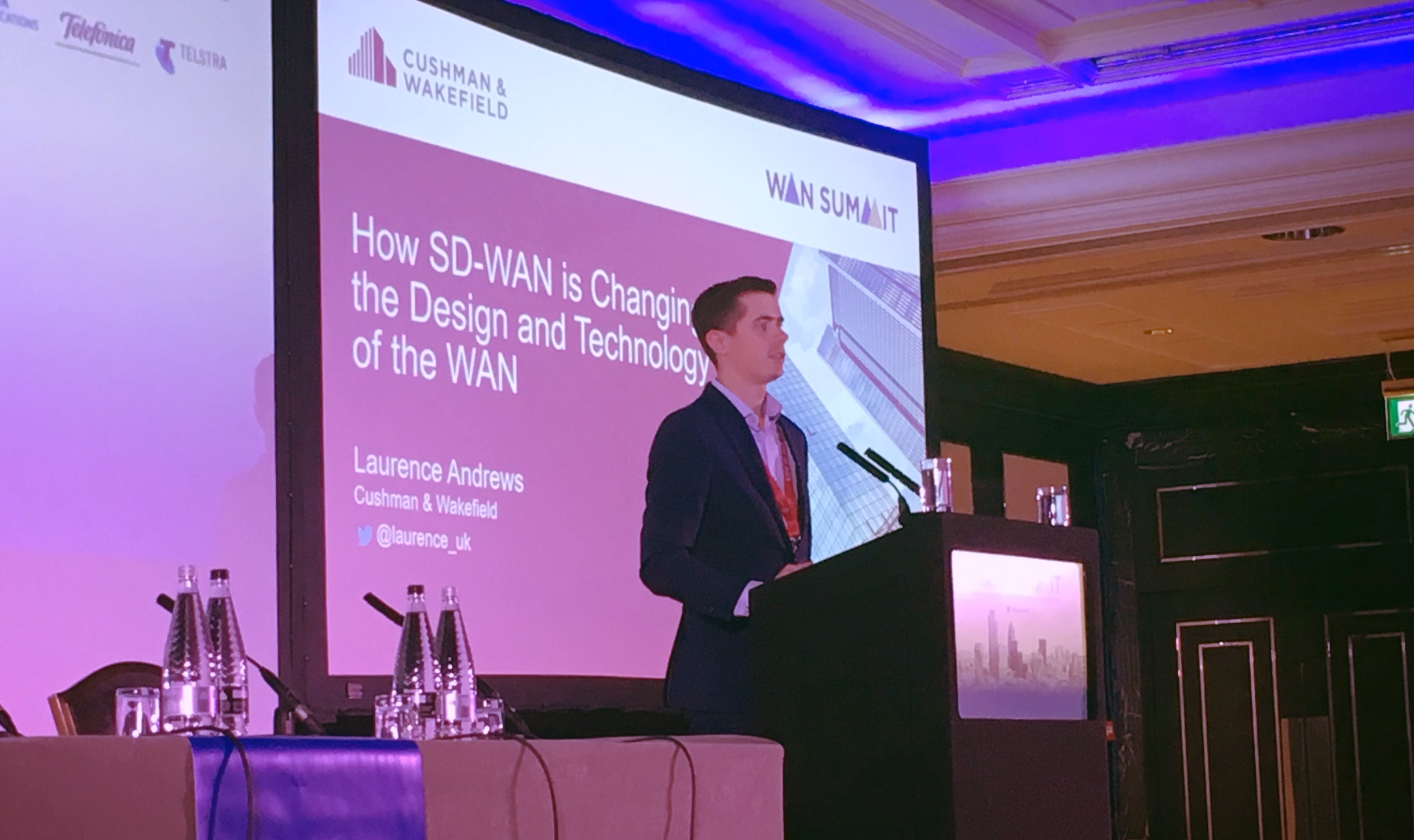 Speaking at WAN Summit London, 2017.