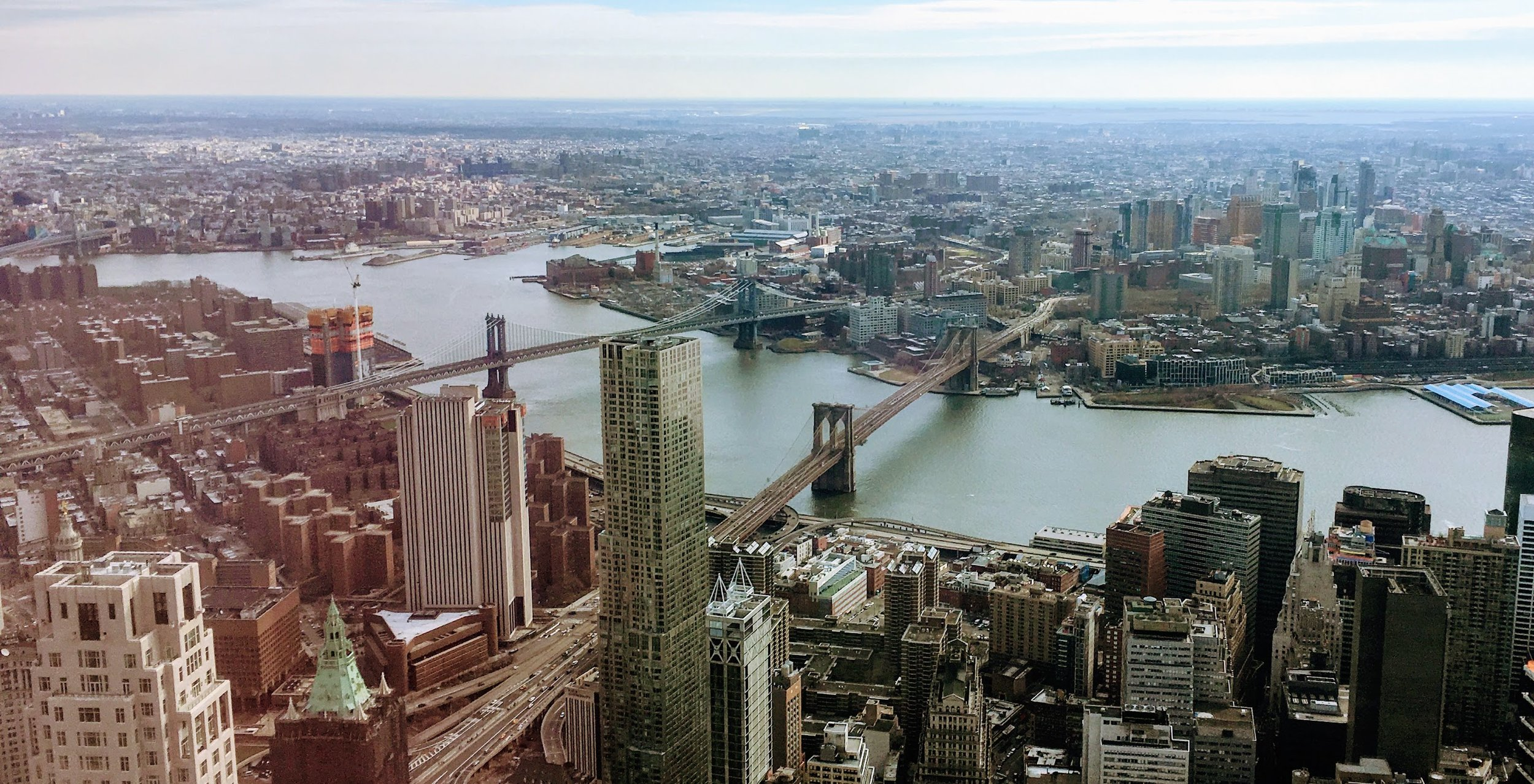 View from the top of One WTC