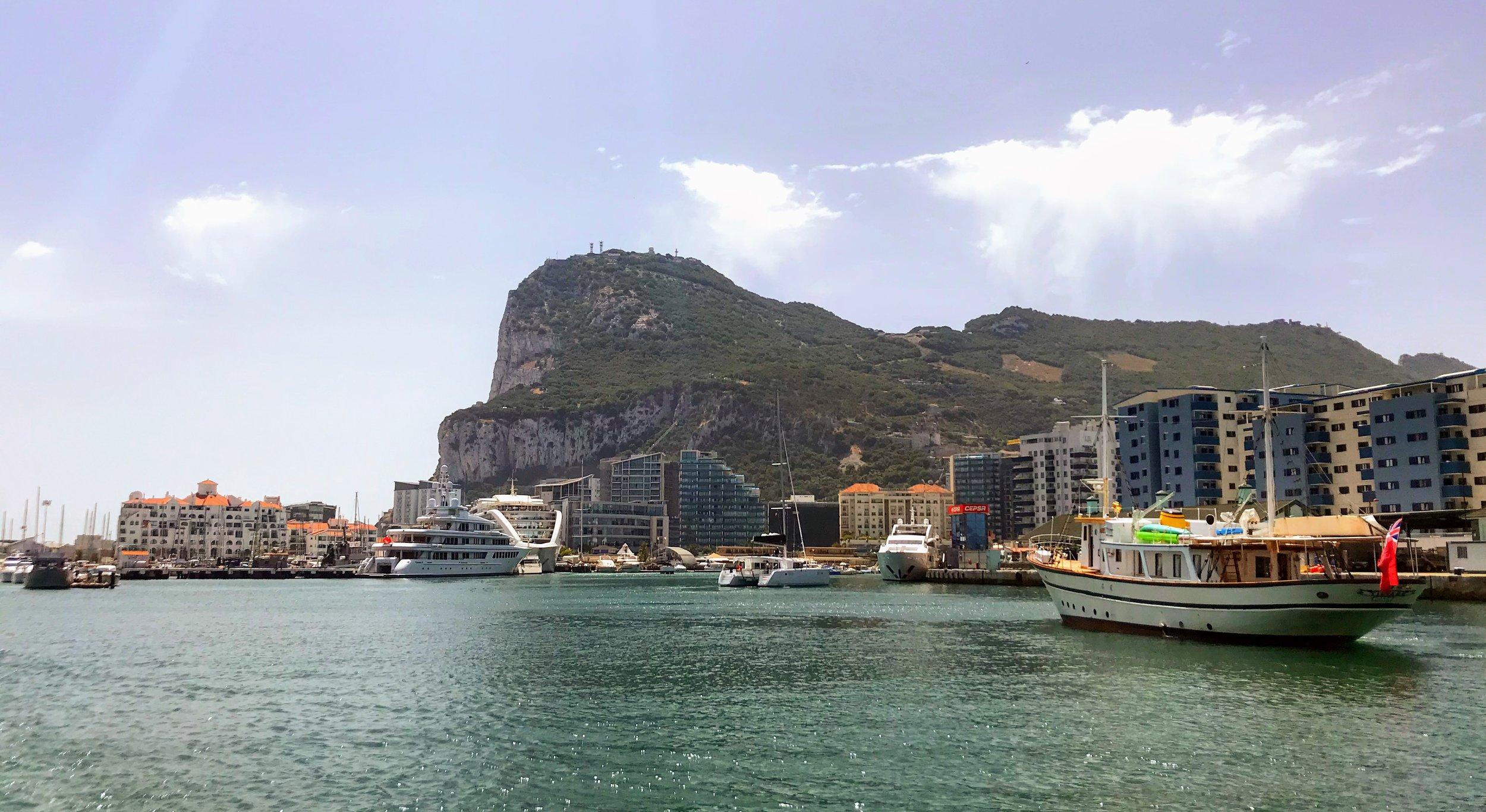 Northern end of the Gibraltar Rock, Gibraltar