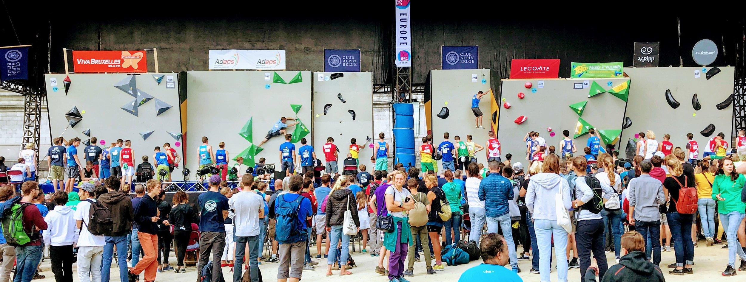 European Climbing Championships, Brussels, Belgium