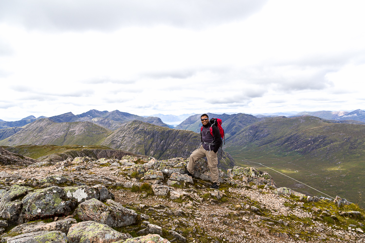 At the top of Stob Dearg