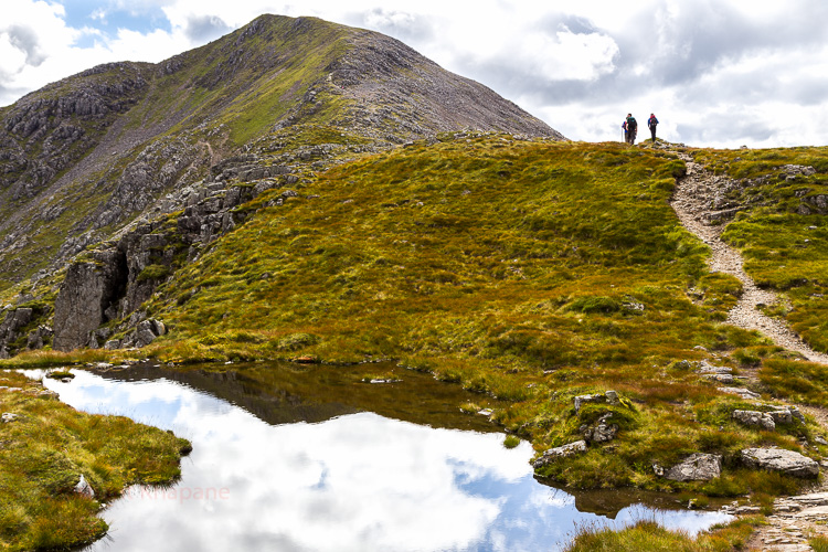 After making it at the top of Stob Dearg Arvind & Sumiran decided to walk down and I continued to the other peaks of the ridge.