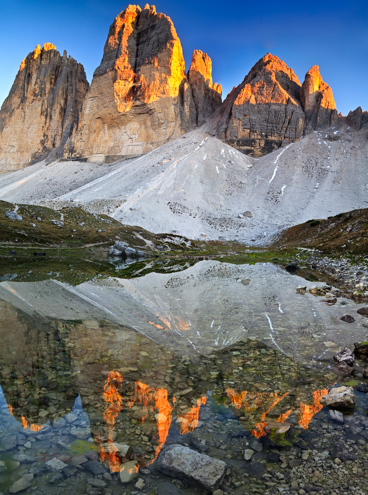 The three peaks of Dolomites.