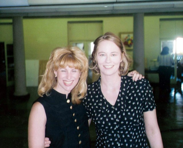 With Cybill Sheperd On Set of Journey of the Heart