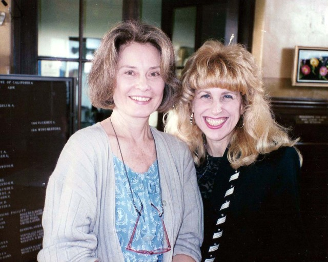 With Diane Baker on set of The Net