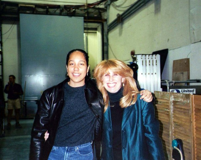 With Gina Prince-Bythewood, Director on set of Disappearing Acts