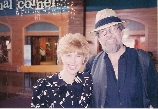 With Roger Kellaway on set of Journey of The Heart