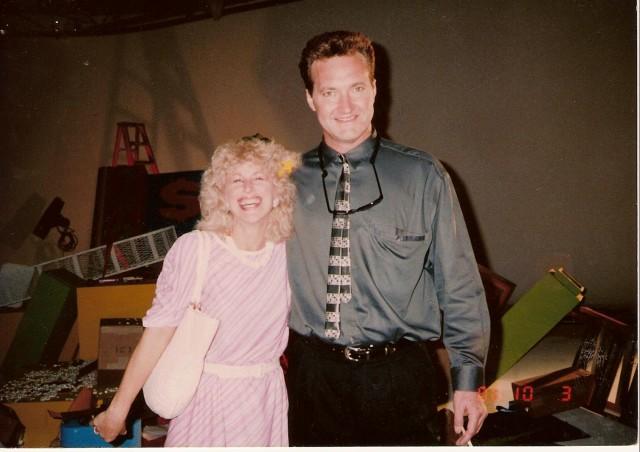 "With Randy Quaid on set of ""Martians Go Home"""