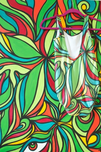 Swimsuits available in many prints and patterns - made to order - inquiries  HERE