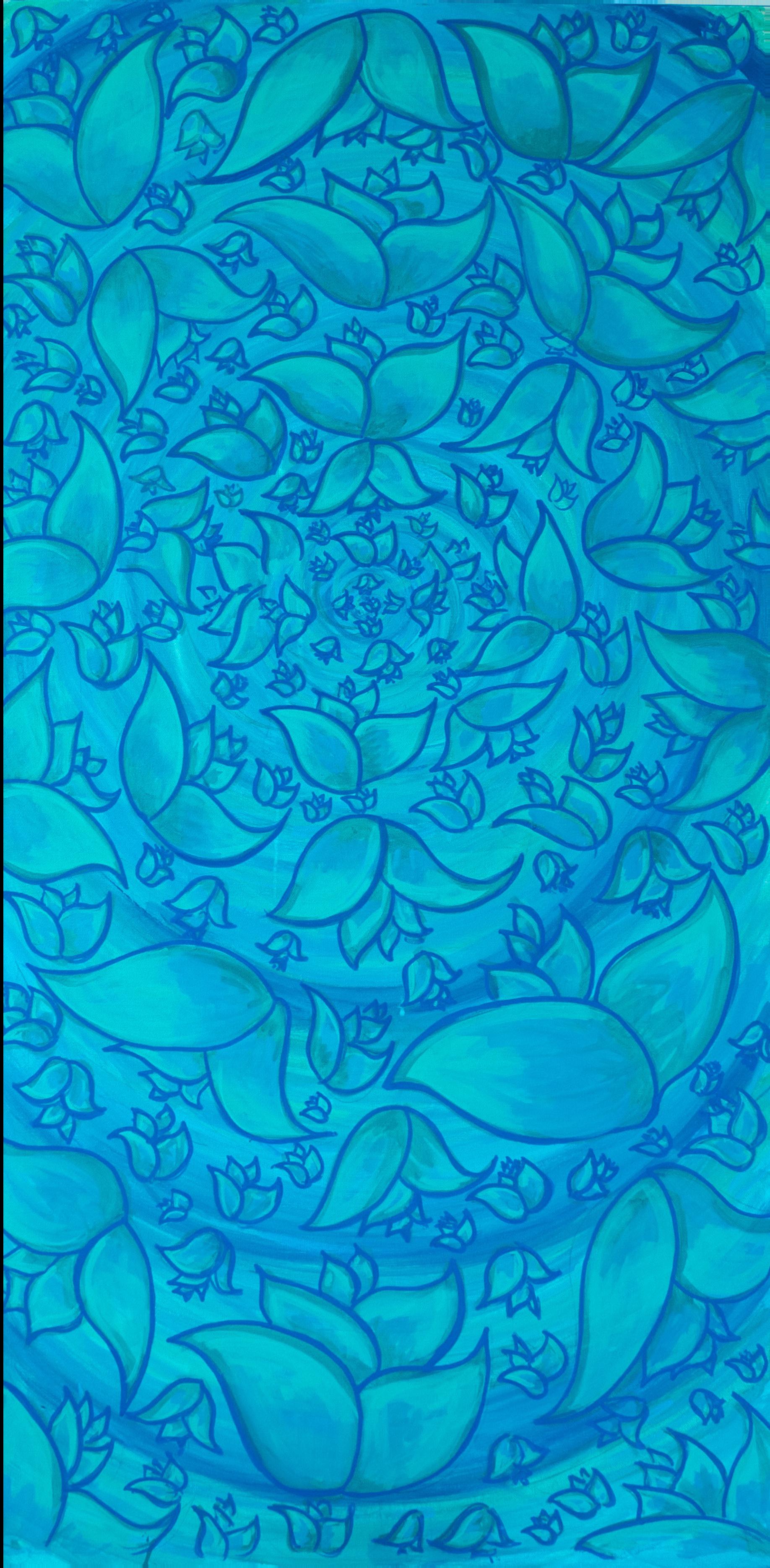 Blue Floral Vortex