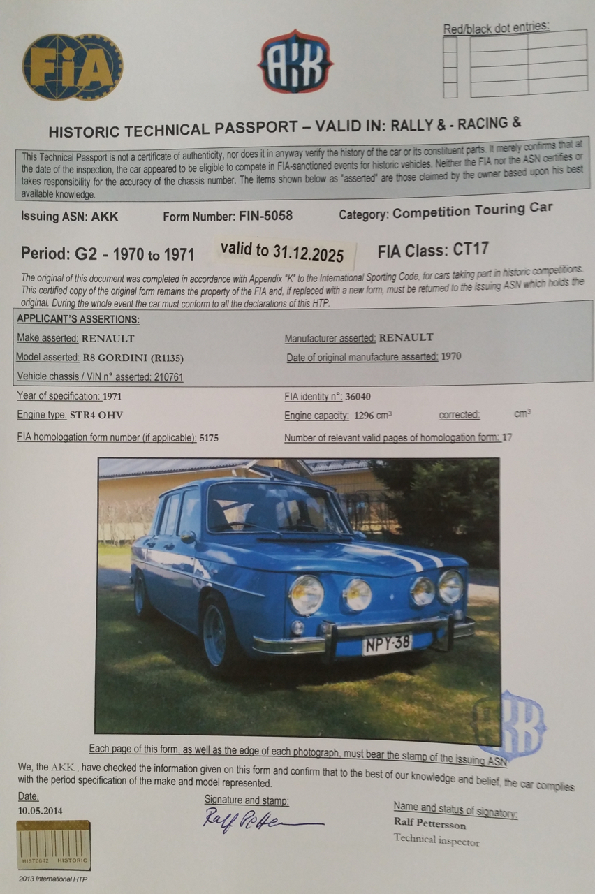 Voimassa oleva FIA-passi