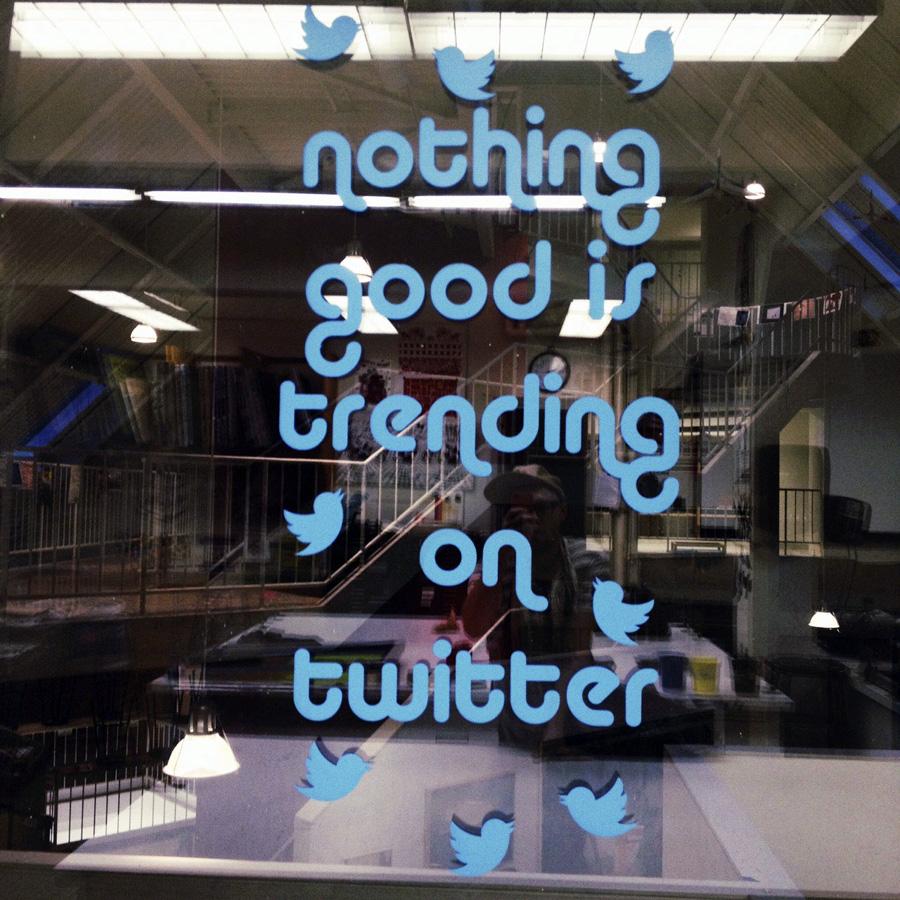 Twitter Window Installation