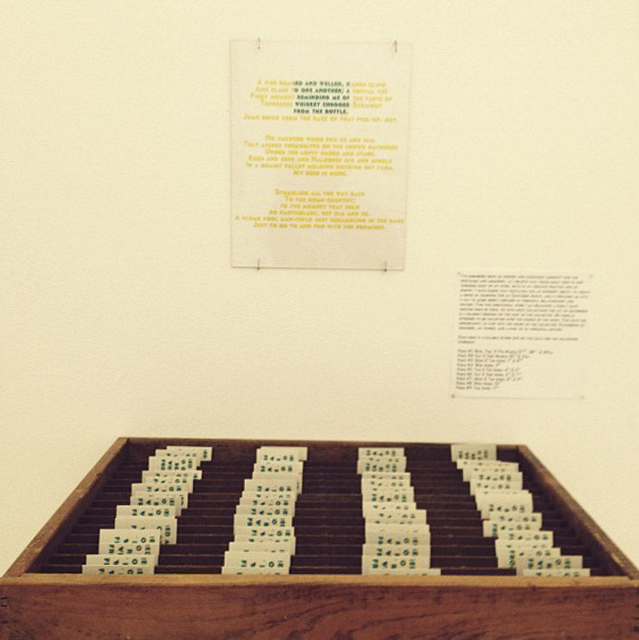 Durational Printed Text Piece
