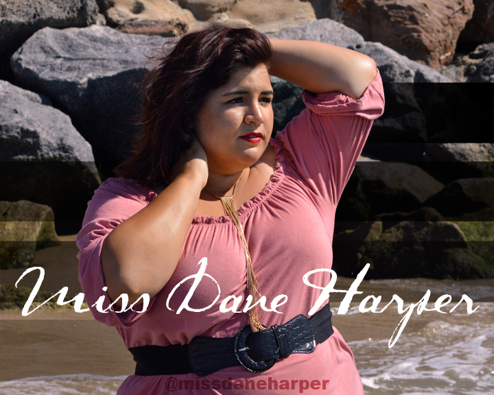Online graphic for upcoming musical artist Miss Dane Harper.